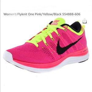 Nike Flyknit Lunarlon Pink & Neon Yellow  (9)